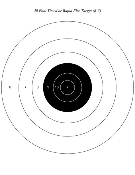 printable nra targets silver city gun club targets