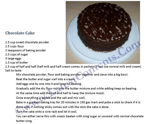 simple chocolate cake recipe easy chocolate cake recipe in english