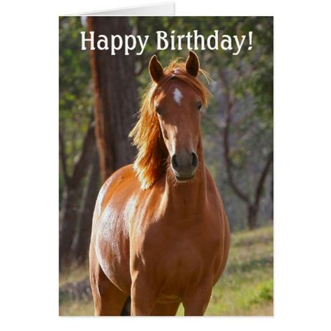 printable horse happy birthday cards horse happy birthday card for horse lovers zazzle