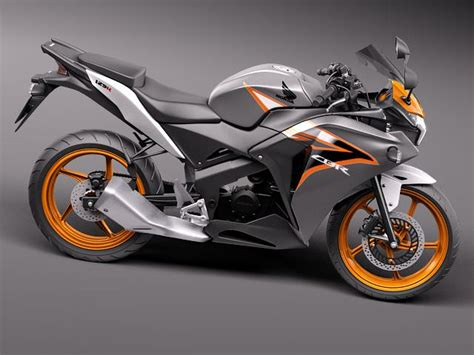 cbr model honda cbr 125r 2011 3d model max obj 3ds fbx c4d lwo