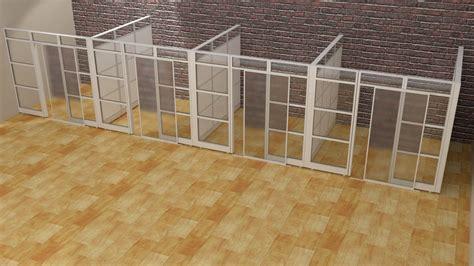 Enclosed Bookcases Designer Half Glass Office Demountable Walls Room Dividers
