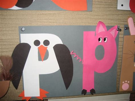 letters for craft projects letter p crafts ideas for preschool preschool and