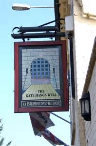 enterprise inns the gate hangs well pub sign 1 high 169 p l chadwick cc