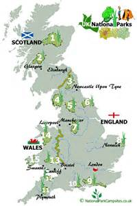 map of national parks in national park csites csites in national parks uk