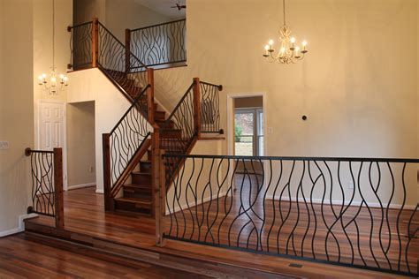 Interior Railings And Banisters by Iron Interior Railing In Our Artisan Bent Design With Fir