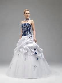 Annie couture 2014 royal blue and white wedding dresses 8514 strapless