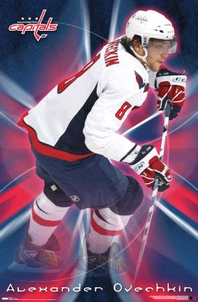 washington capitols alexander ovechkin hockey player poster