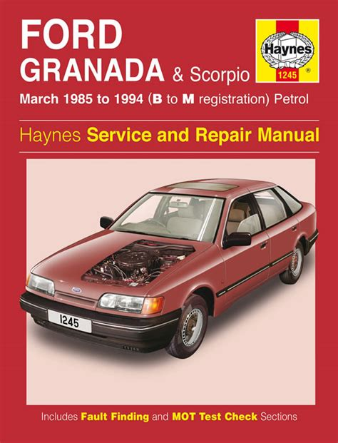 car repair manuals online free 1994 ford econoline e150 windshield wipe control haynes manual ford granada scorpio petrol mar 1985 1994
