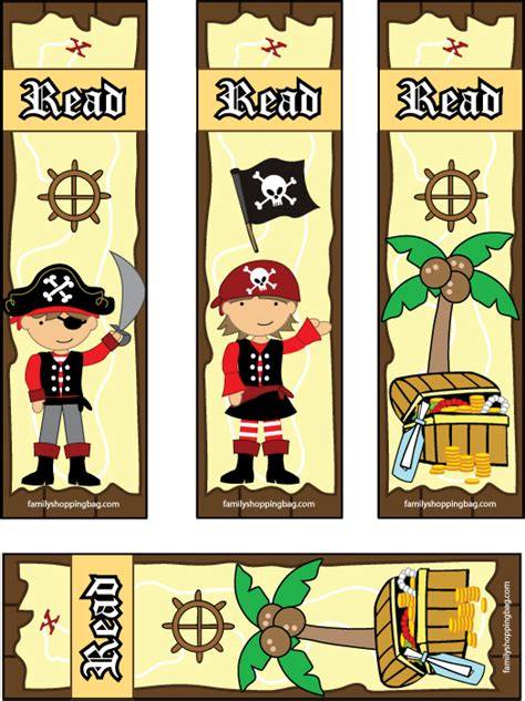 printable pirate bookmarks pirate bookmarks 876475 png