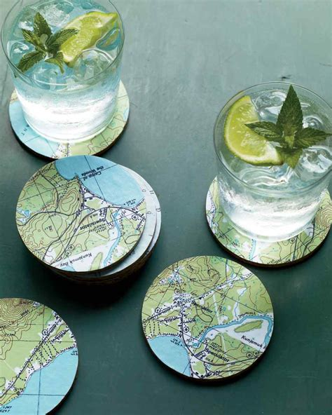 homemade coasters diy magnificent map coasters diy scoop