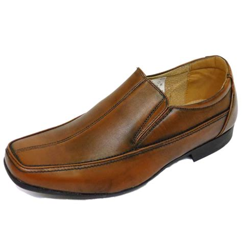 work loafers mens brown slip on work wedding smart casual loafers work