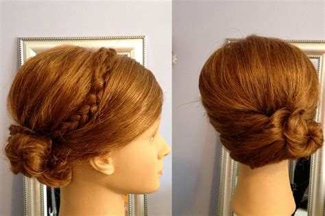 old upstyle hair dos cute updo or upstyle for medium length hair bride updos