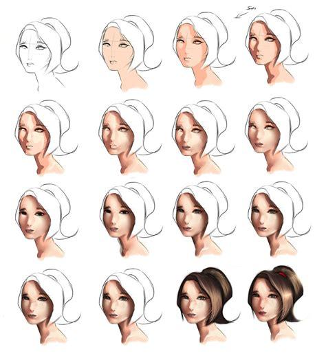 line art hair tutorial skin tutorial step by step by ryky on deviantart