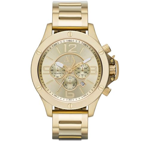 armani exchange s chronogrph gold ion plted stinless