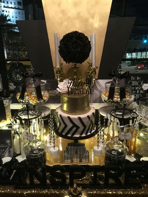 black and gold buffet ls black white and gold candy buffet with a glamorous 2 tier