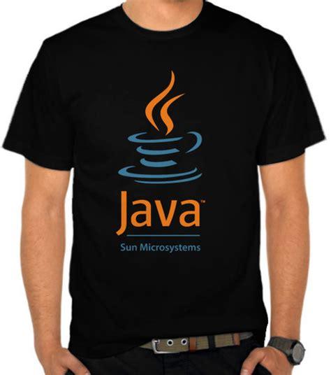 kaos unisex programer syntax jual kaos java sun microsystems ict logo satubaju
