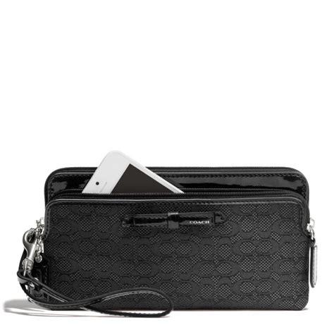 Signature Oxford Zip Satchel by Coach Poppy Zip Wallet In Signature C Mini Oxford