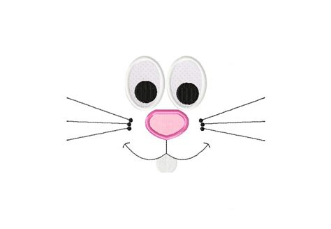 printable bunny eyes bunny face applique inch free images at clker com