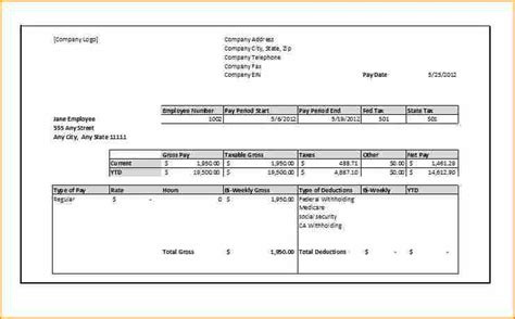 12 Free Self Employed Pay Stub Template Secure Paystub Free Self Employed Pay Stub Template