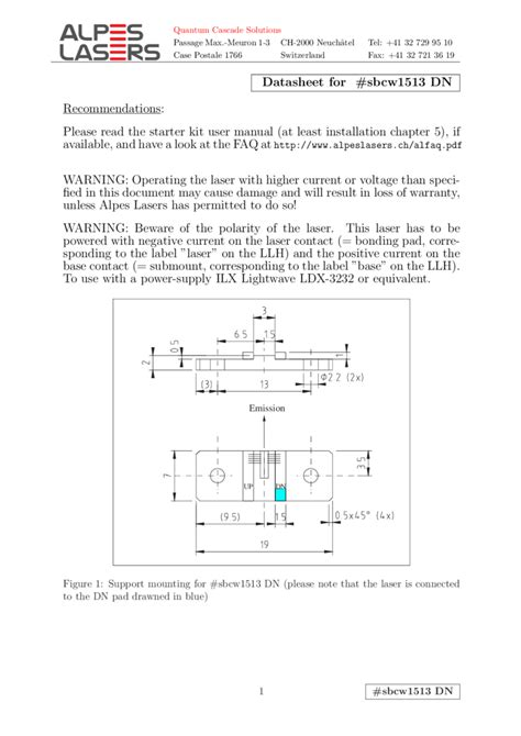 qcl laser diode qcl alpes 5319nm 5076nm quantum cascade laser