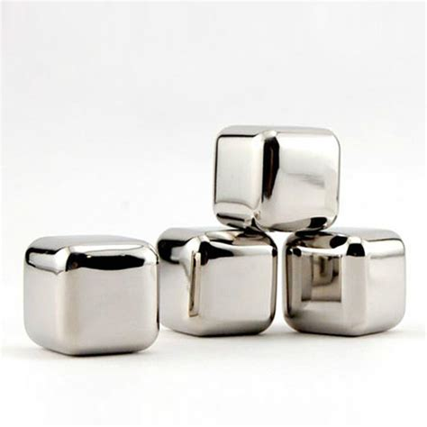 Soapstone Cubes For Drinks new stainless steel whiskey stones rock cubes soapstone chillers drink ebay