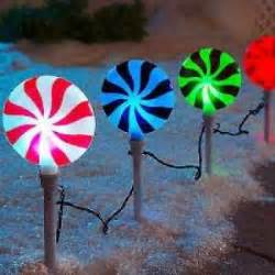 led color changing peppermint lollipop pathway lights
