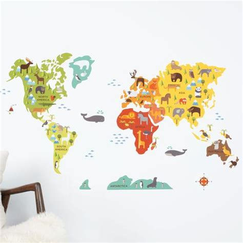 world map wall stickers world map wall decal walldecals