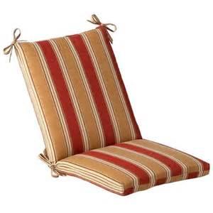 Outdoor patio furniture mid back chair cushion red amp khaki stripe