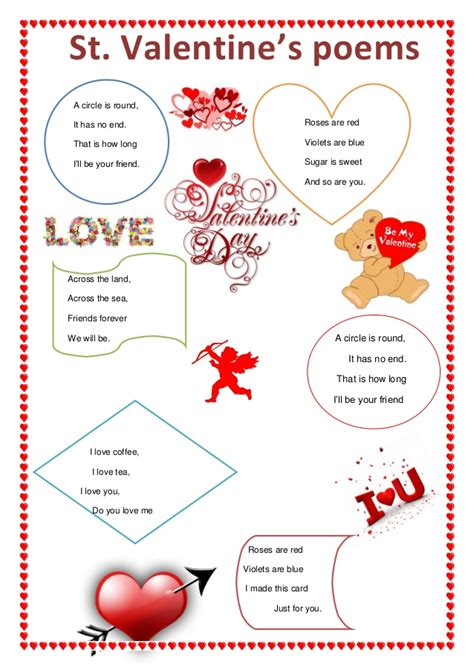 poems of valentines st 180 s poems