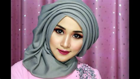 tutorial makeup hijab pesta tutorial make up dan hijab sege empat semple mewah hijab
