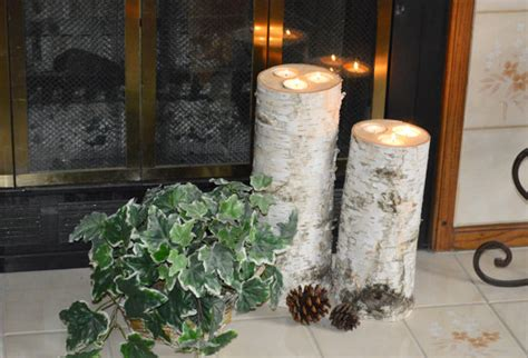 Large Candle Holders For Fireplace Items Similar To Birch Candle Holders Set Of 2