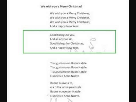 we wish you a merry testo we wish you a merry