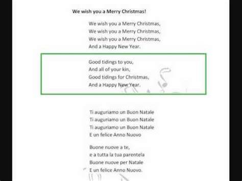 merry testo italiano we wish you a merry