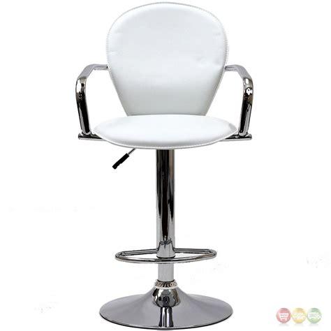 captain chair bar stools captain modern vinyl upholstered bar stool w chrome arms