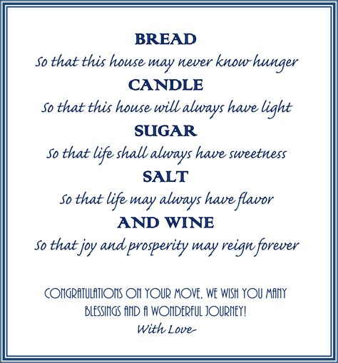 Wedding Blessing Bread Salt Wine by Housewarming Gift Basket A New Tradition Our