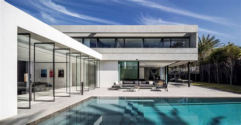 modern architecture of israeli house design aharoni house spectacular modern concrete and glass dwelling in israel