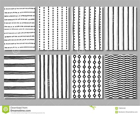 stripe pattern sketch grunge striped and dotted vector hand drawn patterns stock