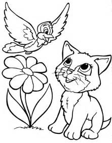 color kittens coloring pages of puppies and kittens coloring home