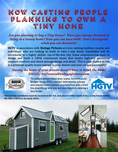 Mtv Prankster Wants To Open Pa Theater by Open Call For Tiny Luxury Hgtv Auditions For 2017