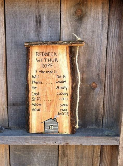 redneck home decor redneck weather rope funny home decor handmade wooden great gift idea