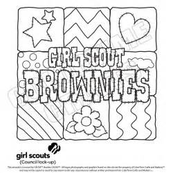 Brownie Coloring Pages scout coloring pages for brownies scouts