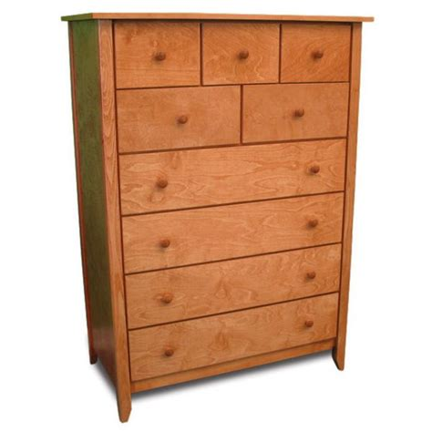 Shaker Style Drawers by Shaker Style Chest With 9 Drawers Birch