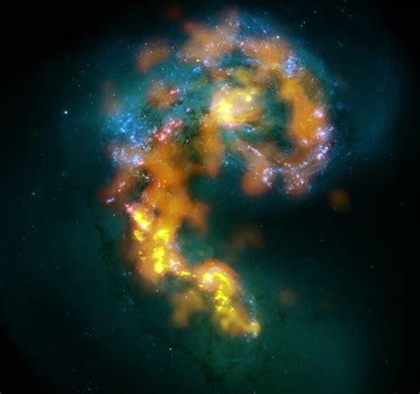 giant radio telescope sees  galactic smash  wired