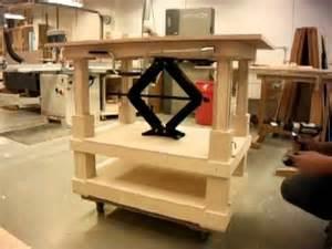 Build Backyard Workshop Scissor Jack Table Youtube