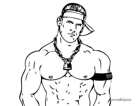 imagenes para colorear wwe dibujos para colorear john cena el luchador wwe es