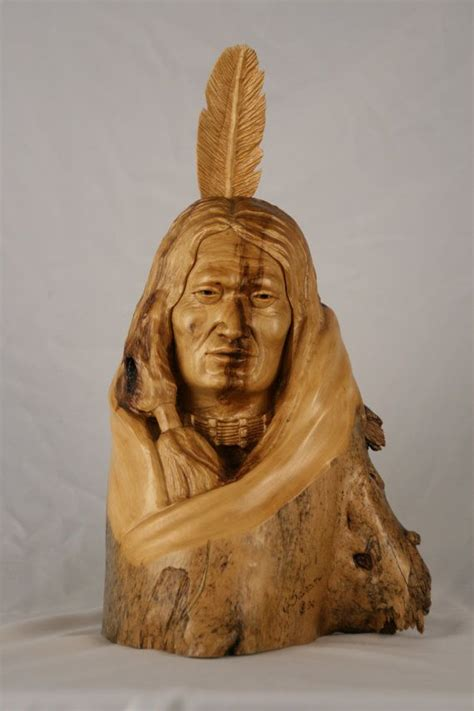 native american indian wood carvings images