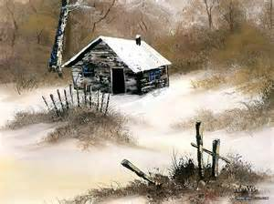 winter cabin by bob ross joseph donaghy