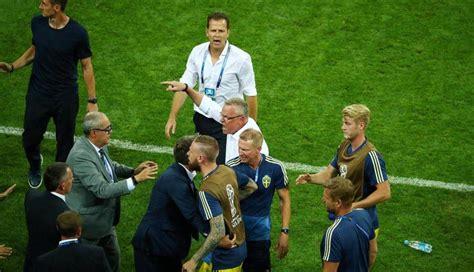 alemania vs suecia partido casi acaba en pelea por