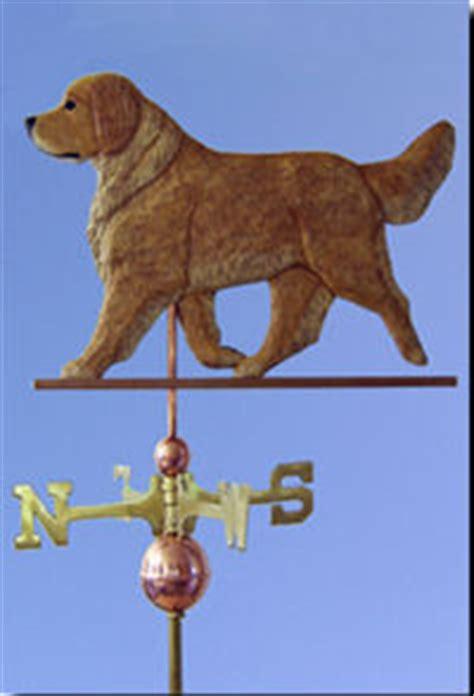 golden retriever weathervane custom handcarved specific breed weathervanes