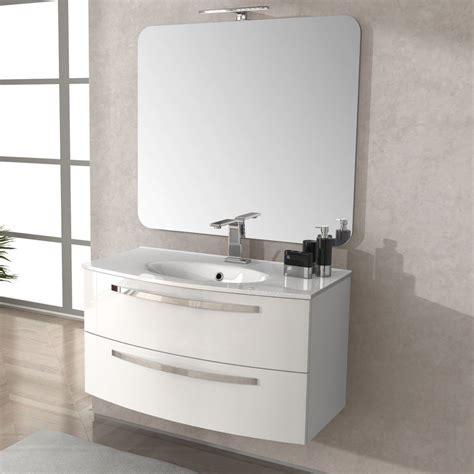 mobili stella mobile bagno stella 100 cm con lavabo colore grigio scuro